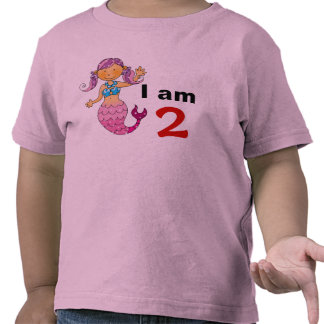 2nd birthday gift for a girl, cute mermaid tshirt