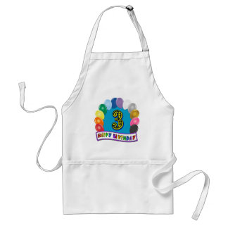 2nd Birthday Gifts with Assorted Balloons Design Adult Apron