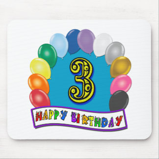 2nd Birthday Gifts with Assorted Balloons Design Mouse Pad