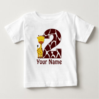 2nd Birthday Giraffe Personalized Shirt