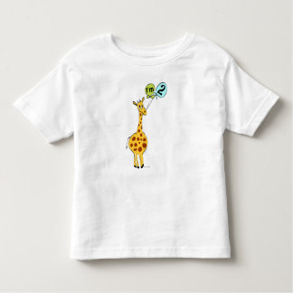 2nd Birthday Giraffe with Balloons Tees