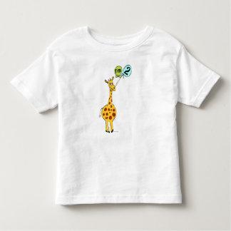 2nd Birthday Giraffe with Balloons Toddler T-shirt