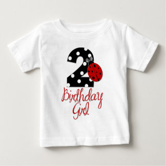 2nd Birthday Girl - Ladybug - 2 Lady Bug Baby T-Shirt