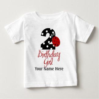 2nd Birthday Girl - Ladybug - 2 Lady Bug Baby T-Shirt