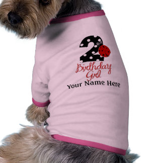 2nd Birthday Girl - Ladybug - 2 Lady Bug Dog T-shirt