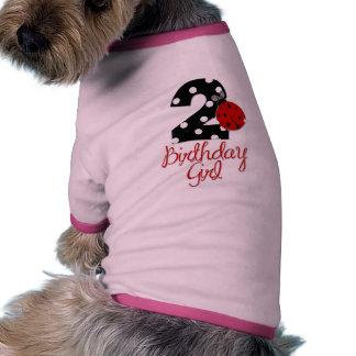 2nd Birthday Girl - Ladybug - 2 Lady Bug Doggie Shirt