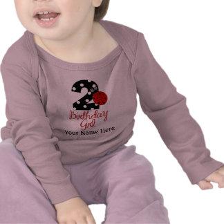 2nd Birthday Girl - Ladybug - 2 Lady Bug T Shirts