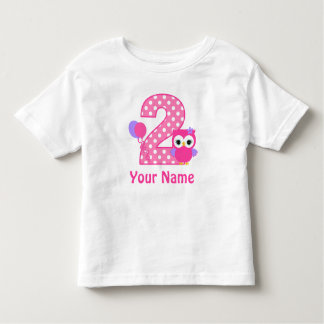 2nd Birthday Girl Owl Personalized T Shirt