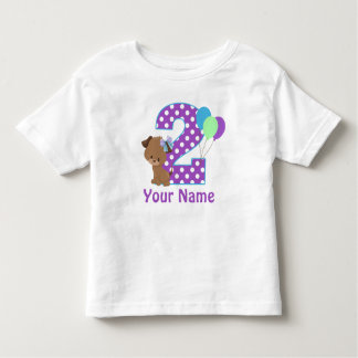 2nd Birthday Girl Puppy Personalized T Shirt
