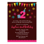 2nd Birthday Girl's Cute Party Invitation