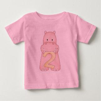 2nd Birthday Hippo (pink) Tee Shirt