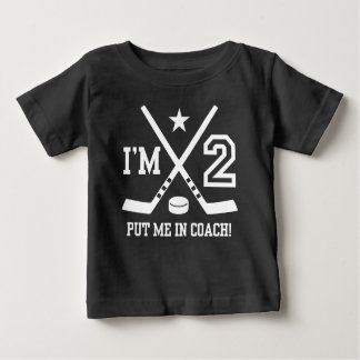 2nd Birthday Hockey Baby T-Shirt