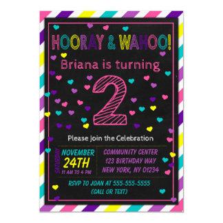 2nd Birthday Invitation for a Girls Birthday Party