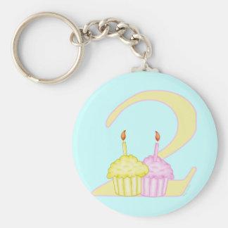 2nd Birthday Keychain
