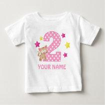 2nd Birthday Kitty Cat Girl Personalized T-shirt