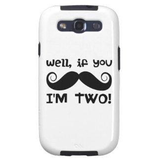 2nd Birthday Mustache Samsung Galaxy SIII Case
