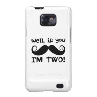 2nd Birthday Mustache Samsung Galaxy SII Covers