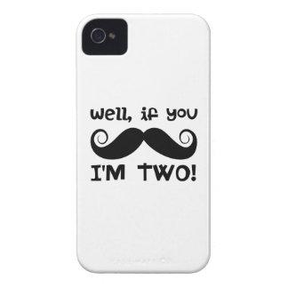 2nd Birthday Mustache Case-Mate iPhone 4 Case