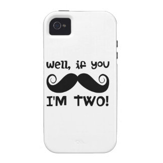 2nd Birthday Mustache iPhone 4/4S Cases