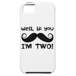 2nd Birthday Mustache iPhone 5 Case