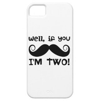 2nd Birthday Mustache iPhone 5 Cover