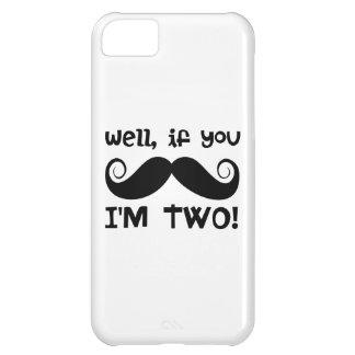 2nd Birthday Mustache iPhone 5C Cases