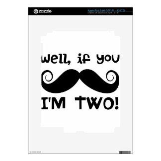 2nd Birthday Mustache iPad 3 Skin