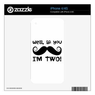 2nd Birthday Mustache iPhone 4 Skins