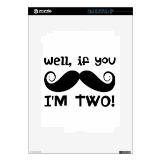 2nd Birthday Mustache Decal For The iPad 2