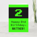 """[ Thumbnail: 2nd Birthday: Nerdy / Geeky Style """"2"""" and Name Card ]"""