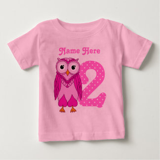 2nd Birthday Owl Custom Shirt