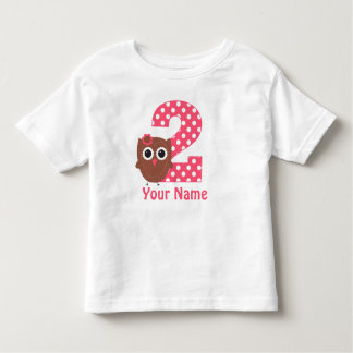 2nd Birthday Owl Personalized T Shirt