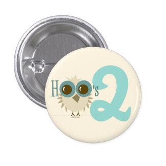 2nd Birthday Owl Toddler Birthday Girl Boy Pins