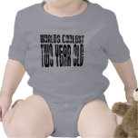 2nd Birthday Parties : Worlds Coolest Two Year Old Baby Bodysuit