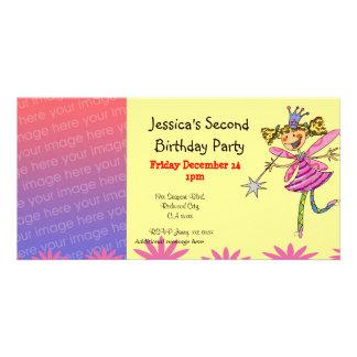 2nd birthday party invitations (princess fairy)