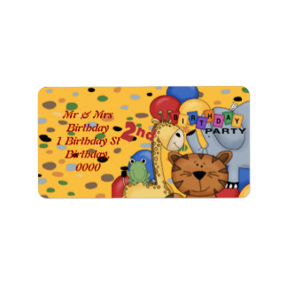 2nd Birthday Party Label