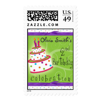 2nd Birthday Party Personalized Postage