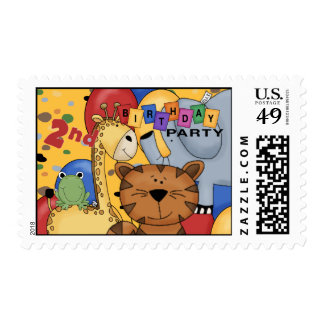 2nd Birthday Party Postage Stamps