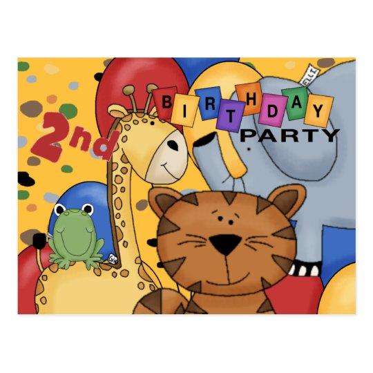 2nd Birthday Party Postcard