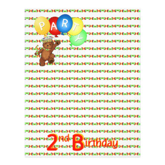 2nd Birthday Party Royal Bear Scrapbook  Paper 3