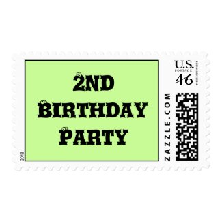 2nd birthday party stamps stamp