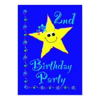 2nd Birthday Party Star Invitation