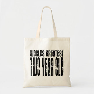 2nd Birthday Party Worlds Greatest Two Year Old Canvas Bags