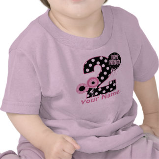 2nd Birthday Pink Black Personalized T-shirt