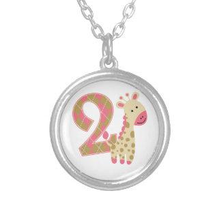2nd Birthday Pink Giraffe Jewelry