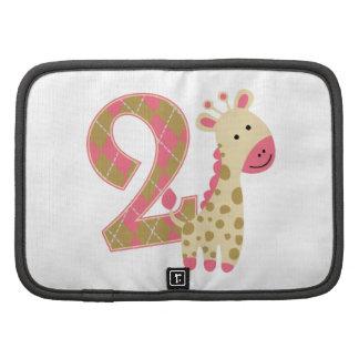 2nd Birthday Pink Giraffe Folio Planners