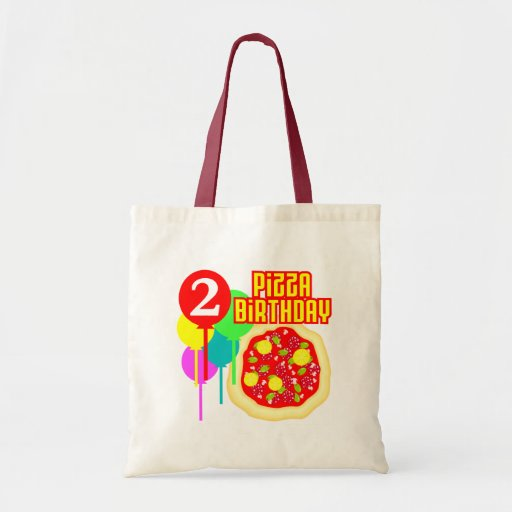 2nd Birthday Pizza Birthday Budget Tote Bag