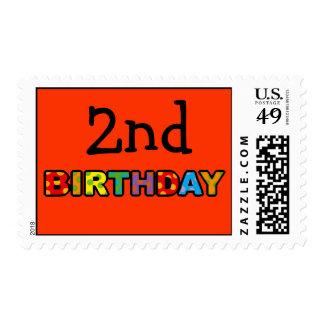 2nd birthday postage