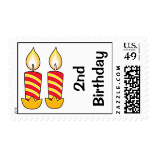 2nd BIRTHDAY POSTAGE STAMPS