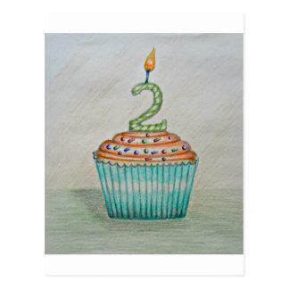 2nd birthday post card